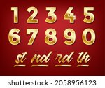 anniversary golden numbers.... | Shutterstock .eps vector #2058956123
