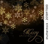 christmas card    | Shutterstock . vector #205897000