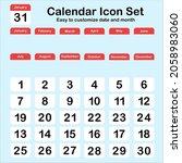calendar icon set vector  easy...