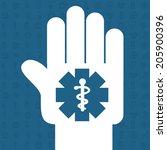 medical design over background...   Shutterstock .eps vector #205900396