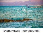 Aegean Sea Coastline With Greek ...
