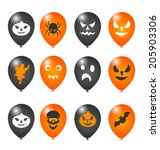 illustration colorful balloons... | Shutterstock .eps vector #205903306