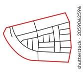 road network image map design... | Shutterstock .eps vector #2059062596