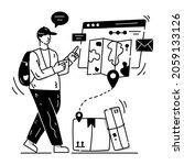 illustration of logistics... | Shutterstock .eps vector #2059133126