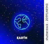 earth planet neon icon design.... | Shutterstock .eps vector #2059148543
