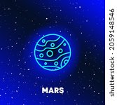 mars planet neon icon design.... | Shutterstock .eps vector #2059148546