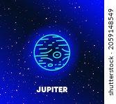 jupiter planet neon icon design.... | Shutterstock .eps vector #2059148549