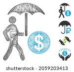 vector wire frame financial... | Shutterstock .eps vector #2059203413