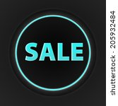 sale circular icon on white... | Shutterstock . vector #205932484