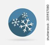 snowflake sign. circle blue...