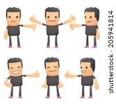 set of bad guy character in...   Shutterstock .eps vector #205941814