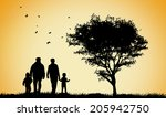 happy family silhouettes   Shutterstock .eps vector #205942750
