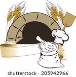 illustration of oven | Shutterstock . vector #205942966