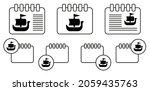 shallop  ship  viking vector...