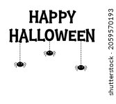 spider set hanging. dash line...   Shutterstock . vector #2059570193