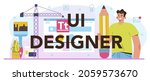 ui designer typographic header. ...