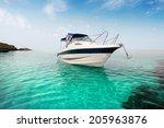 Motor Boat On The Beach.
