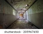 inside view of a deserted run... | Shutterstock . vector #205967650