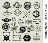 collection of vintage labels ... | Shutterstock .eps vector #205975660