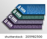 four frame and text areas in... | Shutterstock .eps vector #205982500