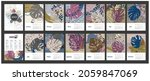 wall calendar 2022 with exotic... | Shutterstock .eps vector #2059847069