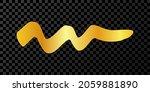 gold wavy grunge brush strokes. ... | Shutterstock .eps vector #2059881890