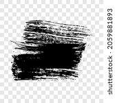 black brush stroke. hand drawn... | Shutterstock .eps vector #2059881893