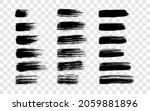 black brush stroke. big set of... | Shutterstock .eps vector #2059881896