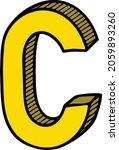 beautiful 3d letter c logo... | Shutterstock .eps vector #2059893260
