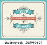 retro label. elements separated ... | Shutterstock .eps vector #205990624