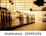 Train On Platform In Station I...