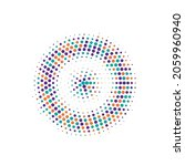 colorful halftone illustration. ... | Shutterstock .eps vector #2059960940