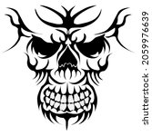 skull head art logo illustration | Shutterstock .eps vector #2059976639