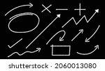 chalk style arrows  frames ... | Shutterstock .eps vector #2060013080