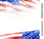 usa watercolor flag background  ... | Shutterstock .eps vector #2060031863