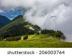 parachuting in high mountains... | Shutterstock . vector #206003764
