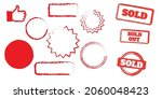 sold out stamps grunge texture. ... | Shutterstock .eps vector #2060048423