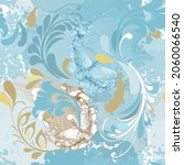 floral fantasy textured... | Shutterstock .eps vector #2060066540