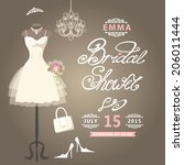 bridal shower card.the...   Shutterstock .eps vector #206011444
