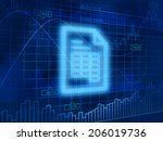 report symbol. business concept. | Shutterstock . vector #206019736