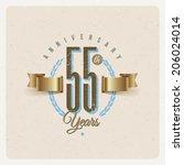 vintage anniversary type emblem ... | Shutterstock .eps vector #206024014
