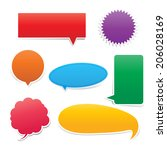 set of speech bouble colorful | Shutterstock .eps vector #206028169