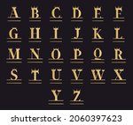 set of letters in crowns  royal ... | Shutterstock .eps vector #2060397623