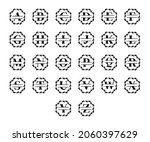 set of elegant personalized... | Shutterstock .eps vector #2060397629