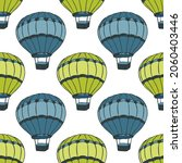 flying hot air balloons ... | Shutterstock .eps vector #2060403446