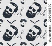 barbershop seamless pattern... | Shutterstock .eps vector #2060405570