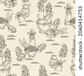 seamless pattern with isatis... | Shutterstock .eps vector #2060414753