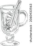 mulled wine vector sketch... | Shutterstock .eps vector #2060433563