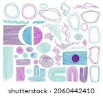 doodle frames  lines and dots... | Shutterstock .eps vector #2060442410