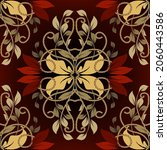 floral vintage seamless pattern.... | Shutterstock .eps vector #2060443586
